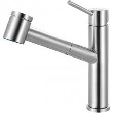 Franke Residential Canada FFPS3450 - Steel Pull Out Spray/Stream Faucet, Top Lever