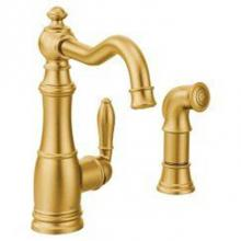 Moen Canada S72101BG - Brushed gold one-handle high arc kitchen
